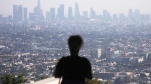 Vue générale sur Los Angeles depuis l'observatoire de Griffith, en Californie, le 4 novembre 2019.