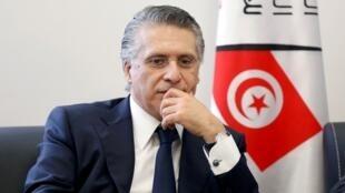 المرشح السابق للانتخابات الرئاسية التونسية نبيل القروي. تونس 2 أغسطس/آب 2019.