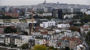 A view of the town of Saint-Denis, in France's Sein-Saint-Denis department, on 19 October, 2016.