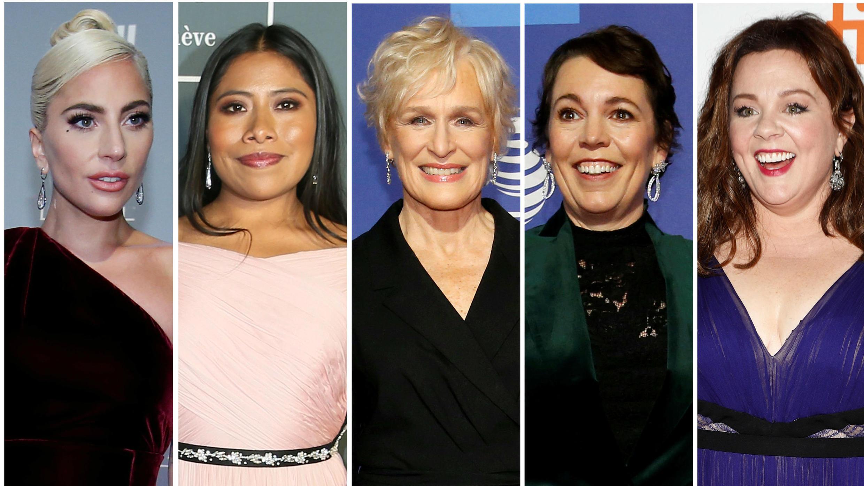 Las nominadas al Óscar como mejor actriz en la 91 edición anual de los Premios de la Academia, Lady Gaga, Yalitza Aparicio, Glenn Close, Olivia Colman y Melissa McCarthy se ven en una combinación de fotos de archivo.