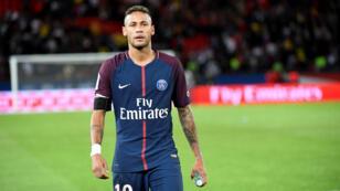 Le footballeur brésilien Neymar, sous le maillot du PSG.