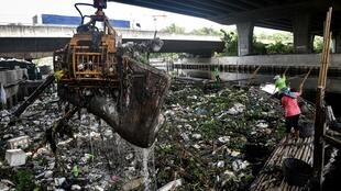 In Thailand's urban areas plastic food containers, cutlery and bags have piled up, clogging canals and rivers