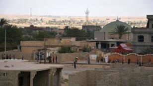 جانب من بلدة القيارة في الموصل
