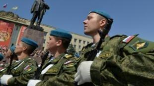 عرض عسكري روسي بمناسبة الاحتفال بيوم القوات الجوية في 2 أغسطس 2015
