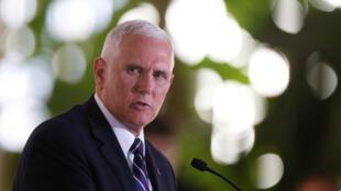 El vicepresidente de EE.UU, Mike Pence, instó a los mandatarios de El Salvador, Honduras y Guatemala a trabajar más para evitar las migraciones ilegales. Junio 29 de 2018.