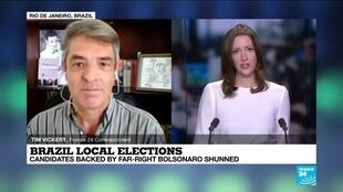 2020-11-16 16:09 Candidates backed by Brazil's Bolsonaro sink in local elections