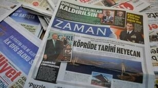 Une du journal turc d'opposition Zaman.