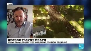 2020-06-01 10:08 Trump slams protesters amid rising pressure over George Floyd's death