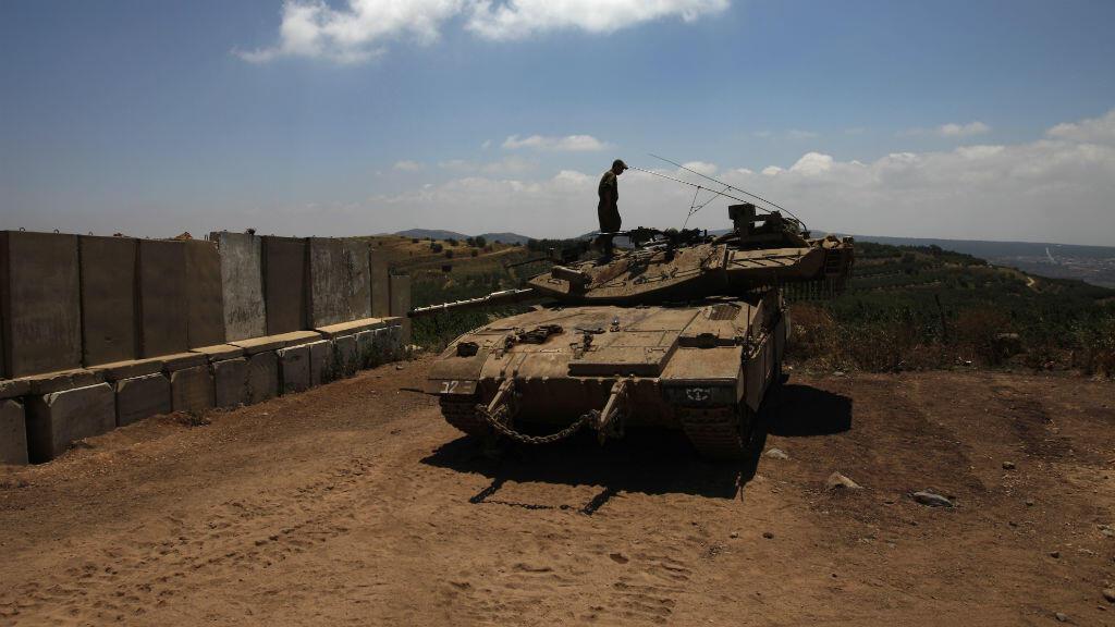 Un tank israélien, posté non loin de la frontière syrienne, le 5 juillet 2016.