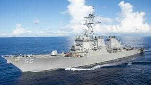 Photo du destroyer USS John S. McCain, le 14 juin 2017.