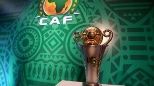 The Confederation of African Football's (CAF) cup displayed at the Ritz Carlton Hotel in the Egyptian capital in December 2018
