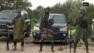 "Vidéo diffusée par Boko Haram le 24 août. Son chef, Abubakar Shekau, y proclame un ""califat islamique""."