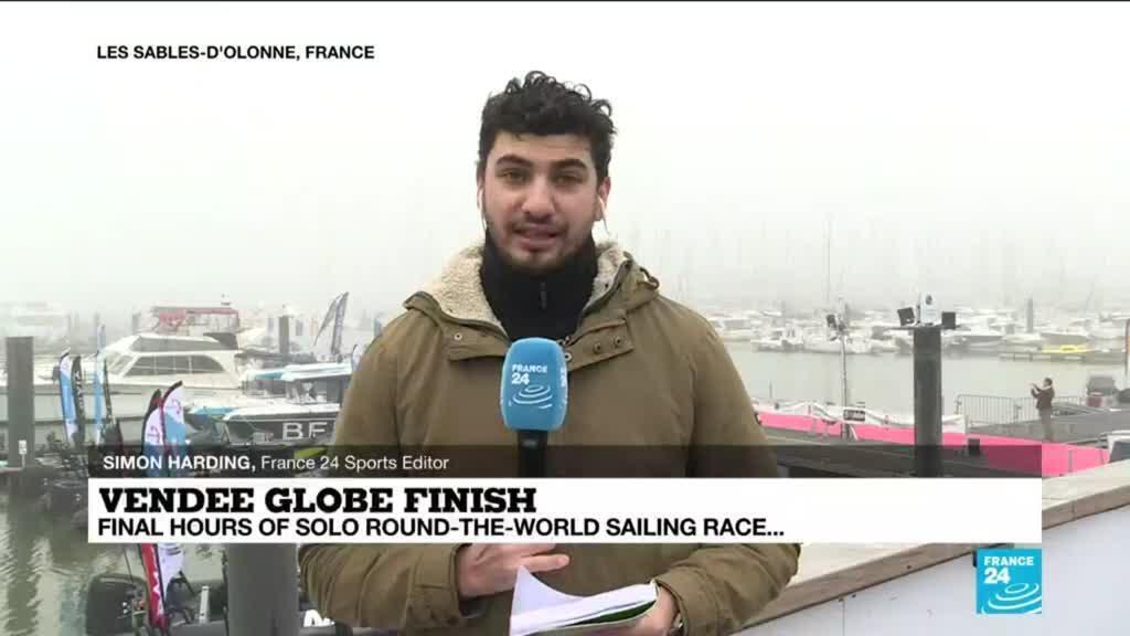 2021-01-27 13:39 Vendée Globe finish: Final hours of solo round-the-world sailing race