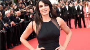المخرجة اللبنانية نادين لبكي على البساط الأحمر في مهرجان كان  السينمائي.