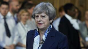 La Première ministre britannique Theresa May au Parlement de Westminster, le 21 juin 2017.