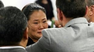 The leader of Peruvian opposition party Popular Force, Keiko Fujimori, is pictured after being released from detention in Lima