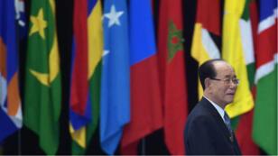 Le responsable nord-coréen Kim Yong-nam lors du sommet Asie-Afrique de 2015 à Jakarta.