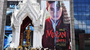 "A billboard for Disney's ""Mulan"" film is seen outside a shopping mall in Bangkok, where calls for a boycott of the movie are growing"