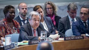 António Guterres,en el Consejo de Seguridad sobre violencia sexual celebrada en la sede de la ONU en Nueva York, EE.UU., el 24 de abril de 2019.