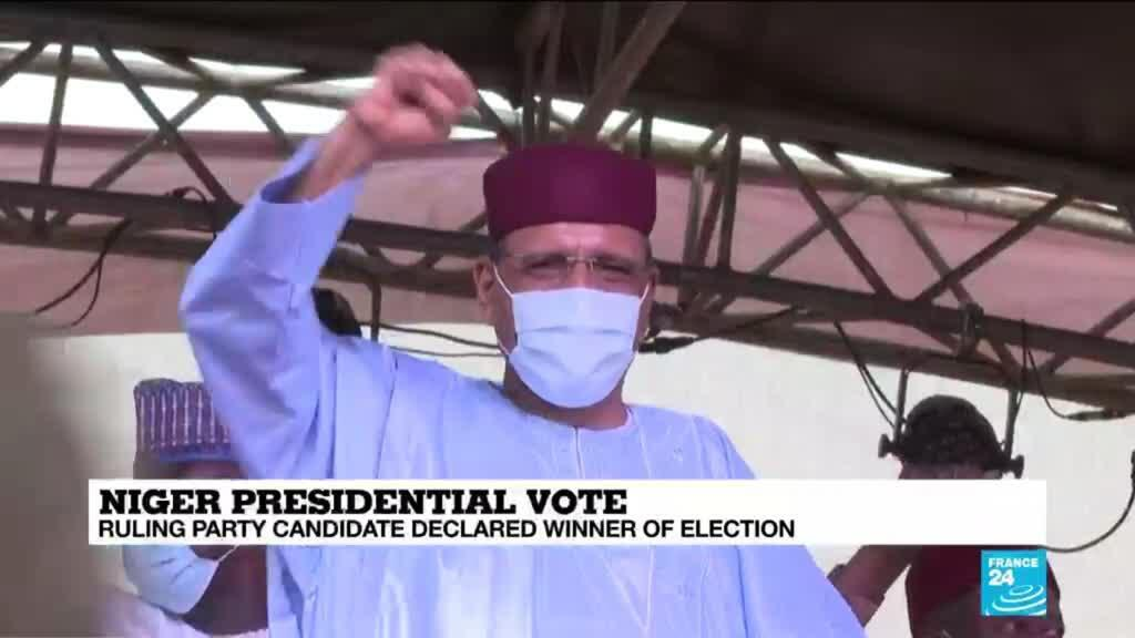 2021-02-24 09:12 Bazoum declared winner of Niger's presidential election as clashes erupt