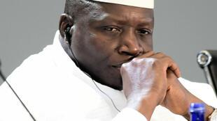 Le président gambien, Yahya Jammeh, lors d'un sommet États-Unis/Afrique à Washington en août 2014.