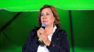 La candidata presidencial de Guatemala por el Partido Unión Nacional de la Esperanza, Sandra Torres, durante el cierre de campaña este viernes en la ciudad de Mixco.