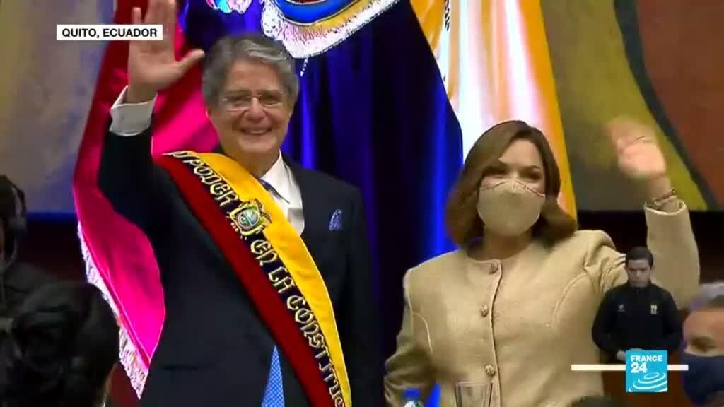 2021-05-25 01:01 Así fue la toma de posesión de Guillermo Lasso como presidente de Ecuador