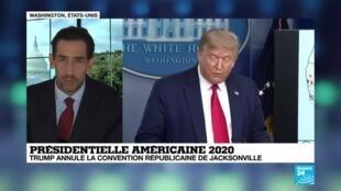 2020-07-24 06:03 Covid-19 aux États-Unis : Trump annule la convention républicaine de Jacksonville