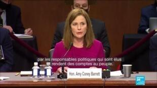 2020-10-13 10:03 Nommée par Trump, la juge Amy Coney Barrett à l'épreuve du Sénat