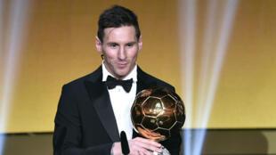 Lionel Messi, vainqueur du Ballon d'Or 2015.