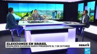 Expertos debaten a cerca de las elecciones generales de Brasil en el estudio de France 24.
