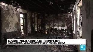 2020-10-08 11:10 Nagorno-Karabakh residents displaced as conflict worsens