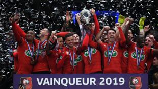 Le Stade Rennais a remporté la Coupe de France 2019.