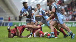 Capital deal - Wales' Willis Halaholo in action for the Cardiff Blues