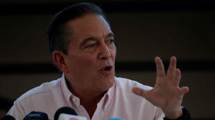 """El virtual presidente de Panamá, Laurentino """"Nito"""" Cortizo, durante la rueda de prensa que ofreció el 6 de mayo de 2019 en la sede del Tribunal Electoral en Ciudad de Panamá."""