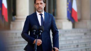 وزير الداخلية الفرنسي كريستوف كاستنير في قصر الإليزيه، في 19 مايو/أيار 2019.