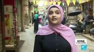 2021-03-19 10:12 Dix ans de guerre en Syrie - Portraits de réfugiés : Ghadir, des combats au Yoga
