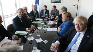 Emmanuel Macron, Angela Merkel et Boris Johnson se sont rencontrés le 23 septembre en marge de l'Assemblée générale de l'ONU.