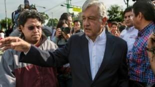 مرشح الانتخابات الرئاسية أندرس مانويل لوبيز اوبرادور في مكسيكو في 18 آذار/مارس 2018