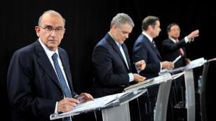 Humberto de la Calle en el debate organizado por el periódico El Tiempo en Bogotá, Colombia el 24 de mayo de 2018.