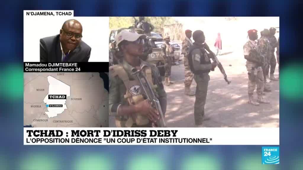 """2021-04-22 09:15 Mort d'Idriss Déby au Tchad : l'opposition dénonce """"un coup d'État institutionnel"""""""