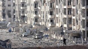 قوات النظام السوري في منطقة 1070 في حلب 8 تشرين الثاني/نوفمبر 2016