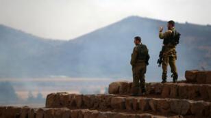 Des soldats israéliens sur le plateau du Golan en juin 2015.