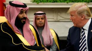 Le président américain Donald Trump reçoit le prince héritier saoudien à Washington, le 20 mars 2018.