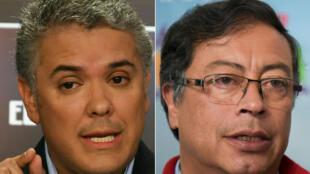 المرشحان الرئاسيان في كولومبيا إيفان دوكي وغوستافو بيترو