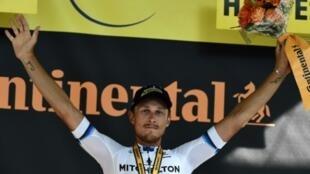 L'Italien Matteo Trentin vainqueur de la 17e étape du Tour de France, le 24 juillet 2019 à Gap