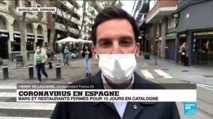 2020-10-14 16:03 Covid-19 en Espagne : bars et restaurants fermés pour 15 jours en Catalogne