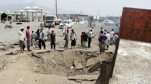 Les stigmates d'un raid mené par l'Arabie saoudite, début avril.
