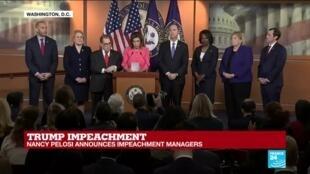 2020-01-15 16:08 Trump impeachment: Nancy Pelosi announces impeachment managers