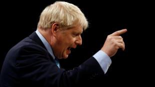 Boris Johnson a dévoilé son plan du Brexit, lors du discours de clôture du congrès annuel de son parti conservateur, le 2 octobre à Manchester.